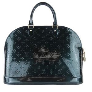 Louis Vuitton Teal MngrmVernis Alma GM Satchel Bag